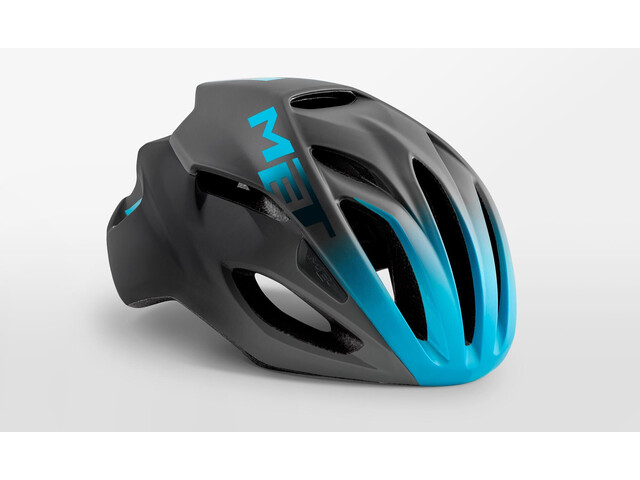 MET Rivale Helmet black/shaded cyan